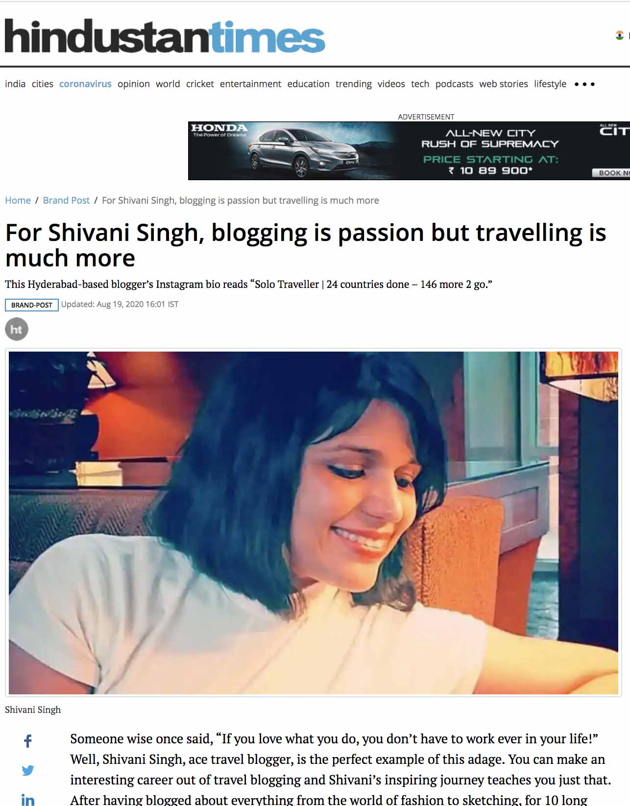 SHIVANI SINGH TRAVEL BLOGGER